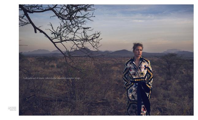 Porter Magazine Photoshoot to raise awareness of Save The Elephant Foundation
