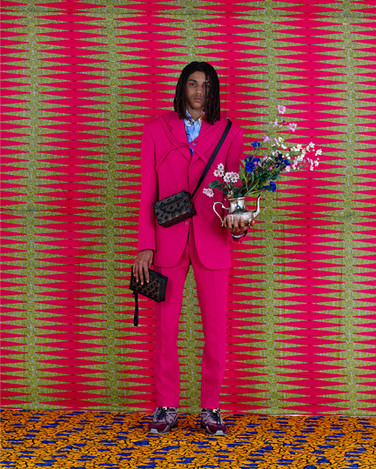 Louis Vuitton Fashion Production - Pink Suit