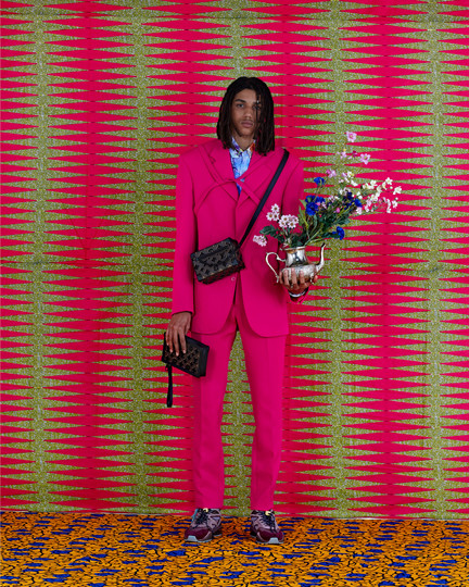 Louis Vuitton Fashion Production - Pink Suit