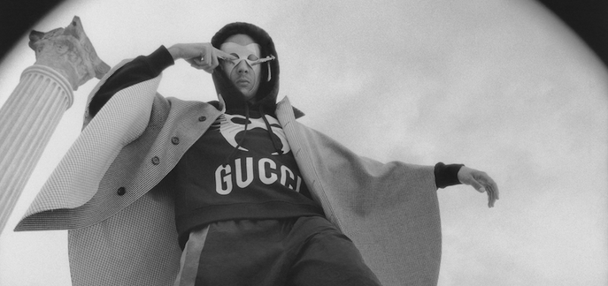 Gucci stills and film shoot in Tunisia - man in mask