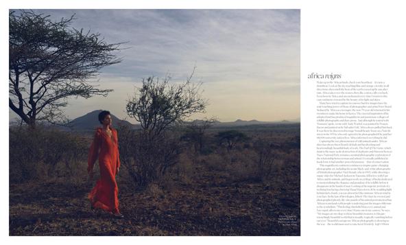 Porter Magazine and Save the Elephant Foundation photoshoot