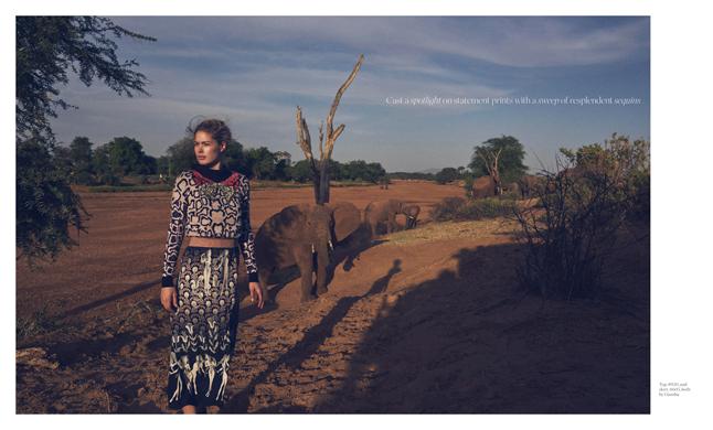 Porter Magazine photoshoot in Kenya