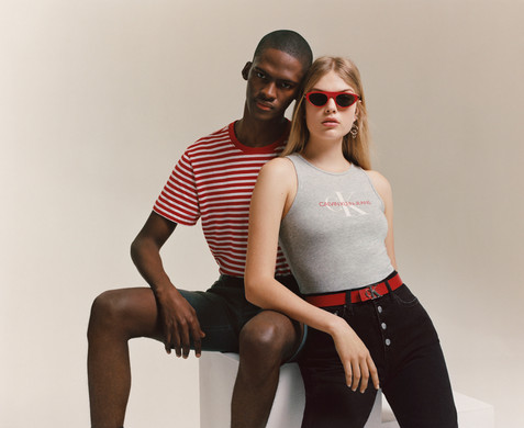 Calvin Klein fashion campaign - man and womanCape Town