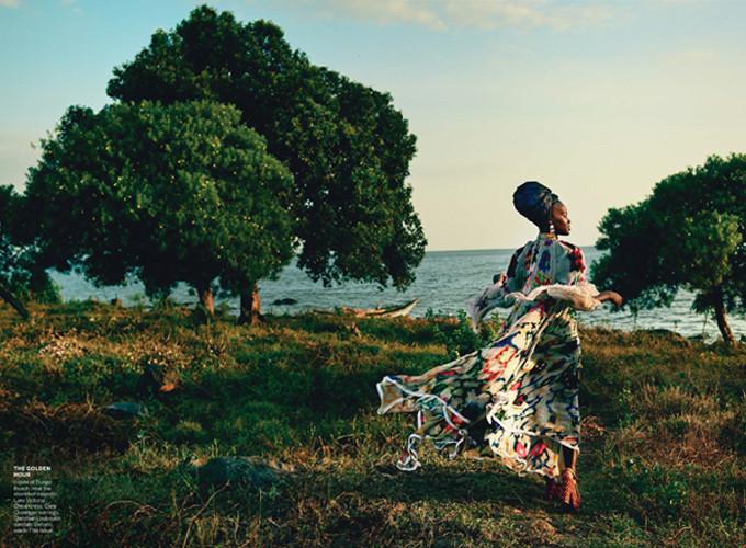 US Vogue Magazine photoshoot production in Kenya with Lupita Nyong'o