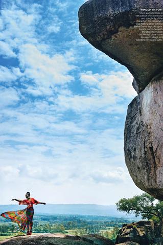 US Vogue Magazine production in Kenya with Lupita Nyong'o