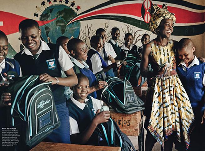 US Vogue Magazine photoshoot production in Kenya