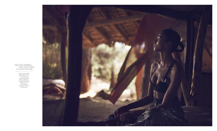 Porter Magazine Photoshoot in Kenya - Save the Elephant Foundation awareness