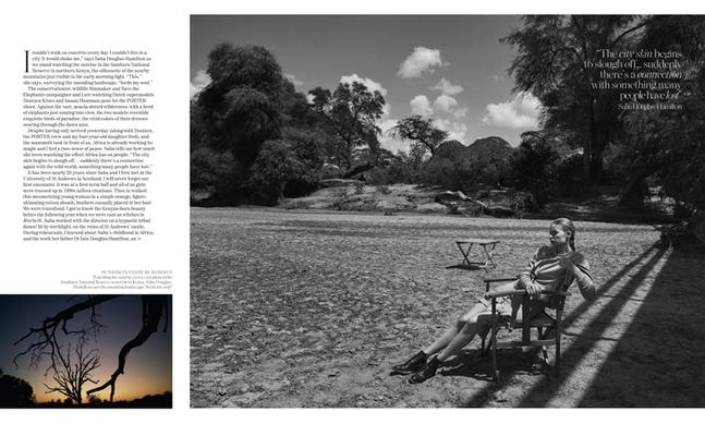 Porter Magazine Photoshoot in Kenya Wildlife reserve