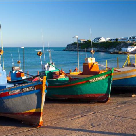 Arniston Bay, South Africa Fisherman Boats