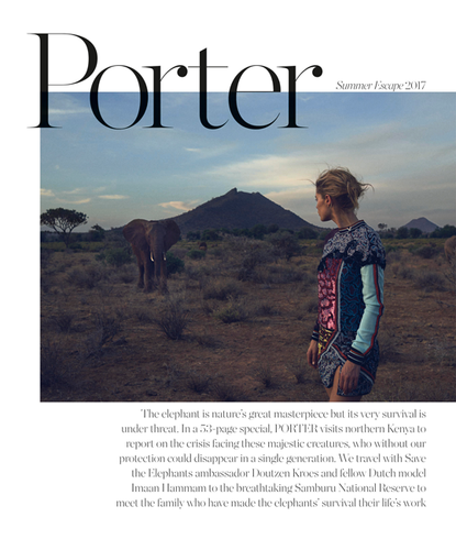 Porter Magazine Photoshoot with Elephants