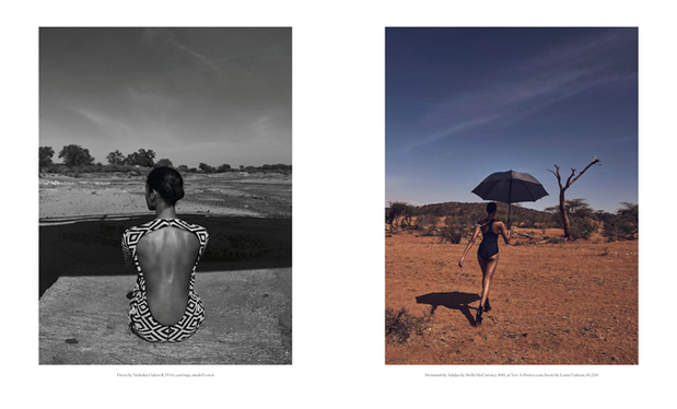 Porter Magazine Photoshoot in Kenya, inspired by wildlife