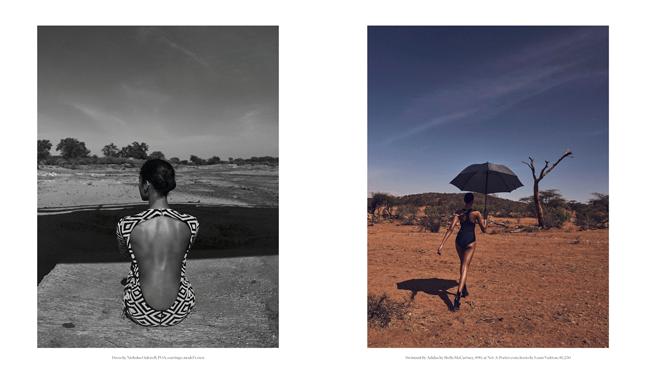 Porter Magazine Photoshoot in Kenya, inspired by wildlife