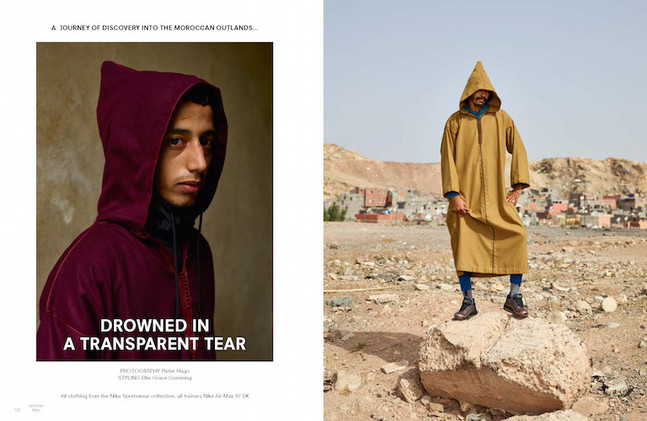 Another Man Photoshoot Production in Morocco