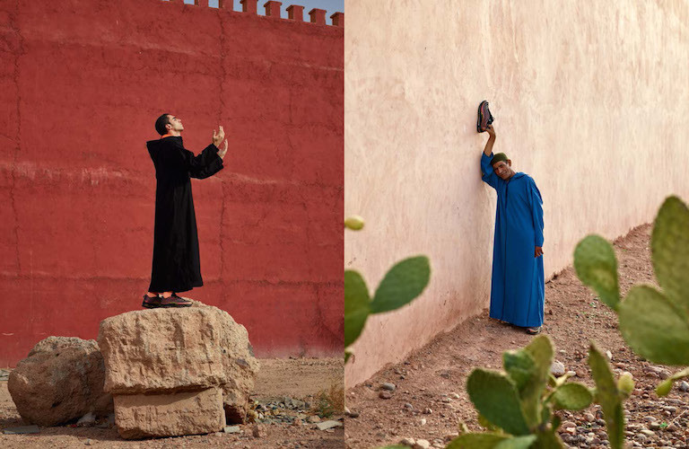 Another Man Production in Morocco with Nike apparel