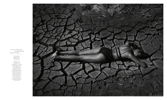 Porter Magazine Photoshoot in Kenya Desert