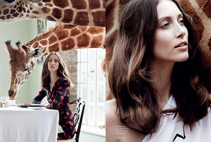 2013 - UK Harpers 3- FASHION GIRAFFE MAN