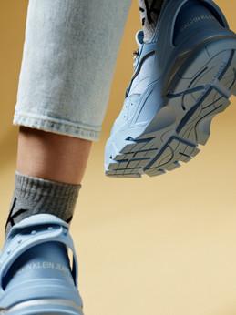 Calvin Klein - blue shoes and jeans - fashion stills Cape Town