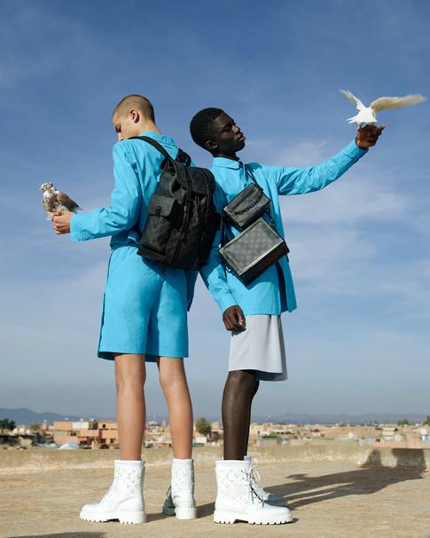 Louis Vuitton stills production - bags and birds