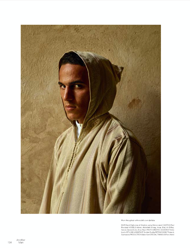 Another Man Photoshoot Production in Morocco with Nike sports apparel