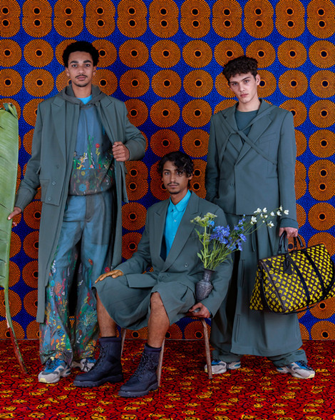 Louis Vuitton fashion - 3 men - produced by