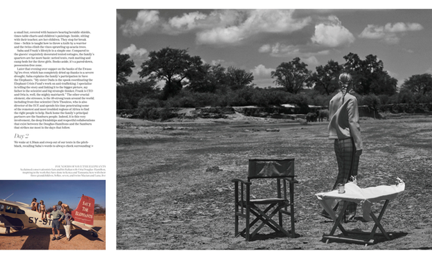 Porter Magazine Photoshoot in Kenya with Elephants