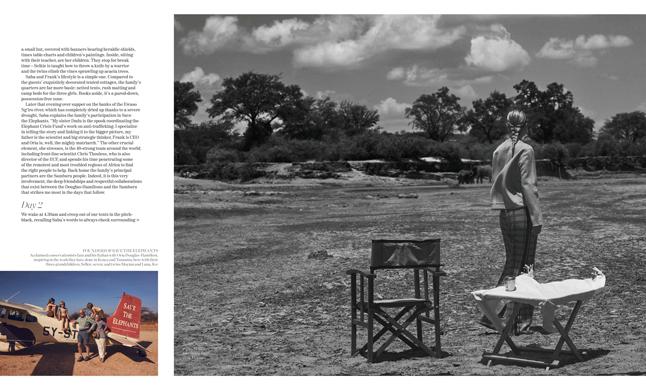 Porter Magazine Photoshoot in Kenya with Elephants