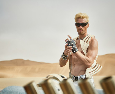 Paco Rabanne production inspired by Mad Max