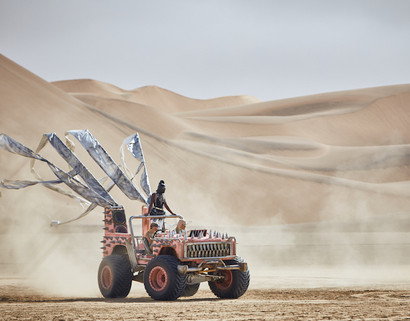 Paco Rabanne photography production in Namib Desert