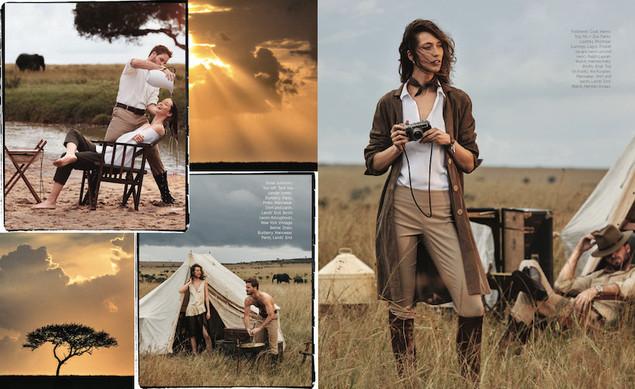 Harpers Bazaar magazine photoshoot in Kenya