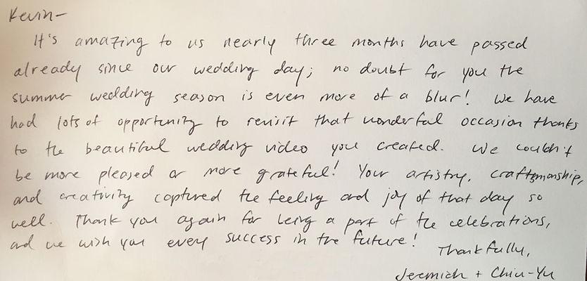 Oregon Washington wedding videography review