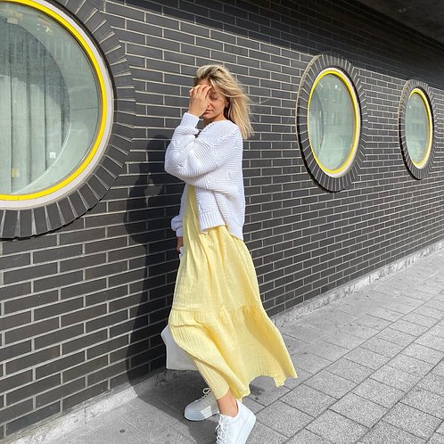 Kleed Nona geel smock