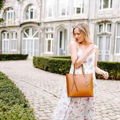 Dress Nona white-pink
