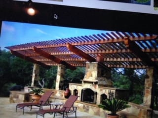 Redwood Arbor Out Door Living Area 20ft