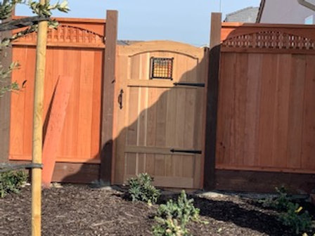 Redwood Custom Gate Installed