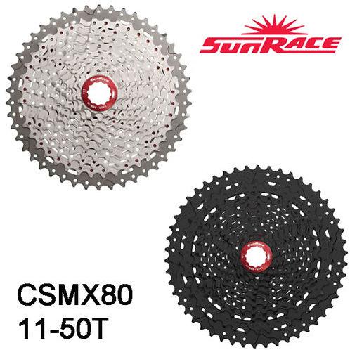 New Sunrace CSMX80 11-50T 11 Speed Mountain Bike Cassette Black Silver MTB