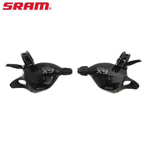 Sram X9 Trigger Shifters Set Front & Rear 2x10 Speed W/Clamp New Model