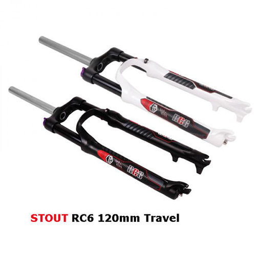 "2017 Stout RC6 26"" 27.5""MTB Suspension Fork 120mm Travel"