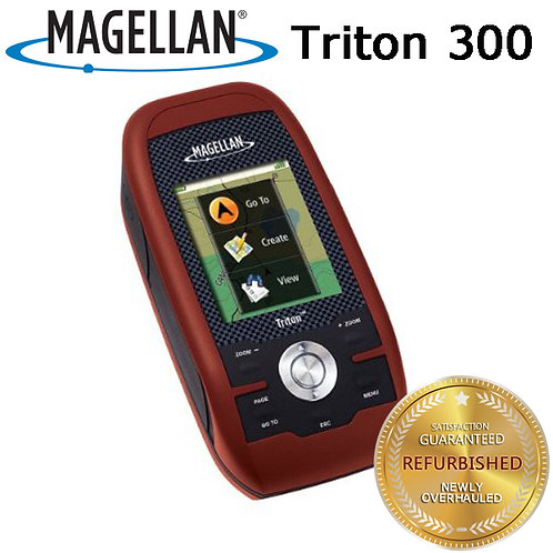 "Magellan Triton 300 2.2"" Handheld Portable GPS IPX7 North America Basic Map"