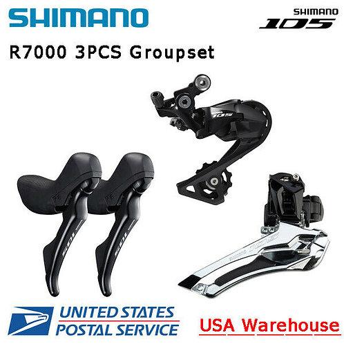 Shimano 105 R7000 11 Speed 3pcs Groupset Front Rear Derailleur Brake Lever Set