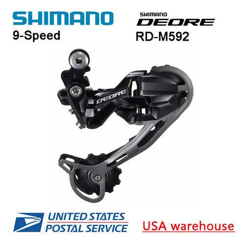 Shimano Deore RD-M592 SGS 9-Speed Shadow Rear Derailleur Long Cage MTB