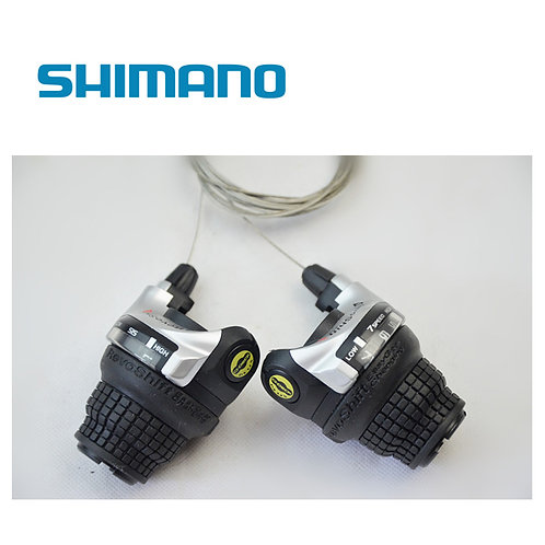 Shimano RS41 Tourney Revo SIS Shift Lever Set 3x7 Speed Twist Rapid Rise MTB