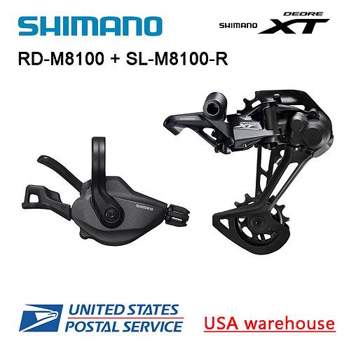 Shimano XT SL-RD-M8100 12 Speed Rear Derailleur + Right Shifter
