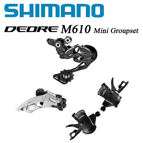 Shimano DEORE M610 MTB Bike 20/30-Speed Shifter Derailleurs 3pcs Mini Groupset