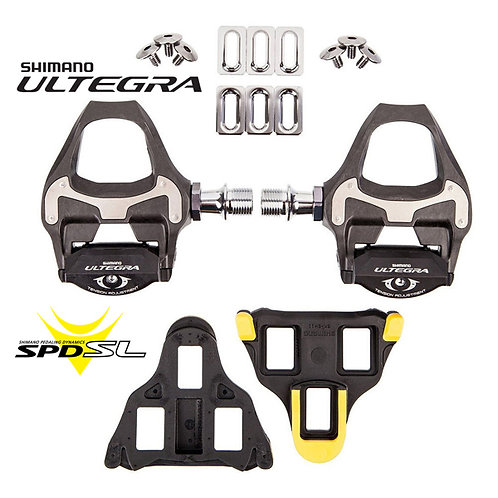 2016 Shimano PD-6800 Ultegra Carbon SPD SL Clipless Pedals with Cleats Road Bike