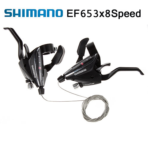 Shimano ST-EF65-8 3x8-Speed Brake Shifters Lever Trigger L+R set with Cable MTB