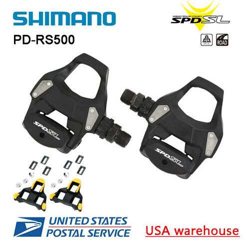 New Shimano PD-RS500 SPD-SL Road Bike Cycling Pedals SM-SH11 Cleat Upgraded R540
