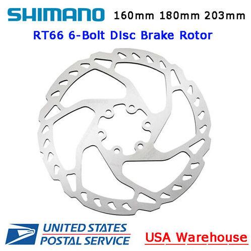 Shimano Deore SLX RT-RT66 Disc Brake 6-Bolt Rotor 160mm 180mm 203mm MTB