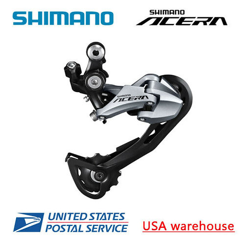 Shimano Acrea RD-M3000 SGS 9 Speed Shadow Long Cage Rear Derailleur Gray