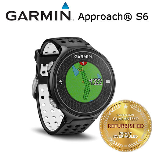Garmin Approach S6 Touchscreen GPS Golf Smart Watch - Black 010-01195-06