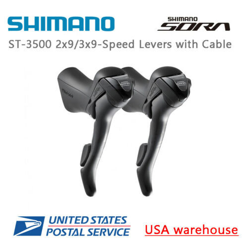 Shimano SORA ST-3500 Shift Brake Lever 2-9-Speed With Cable Pair Right or Left